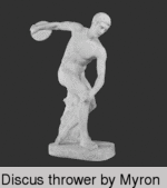Discus thrower by Myron